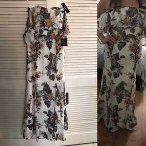 Lulu's Floral Maxi dress size L